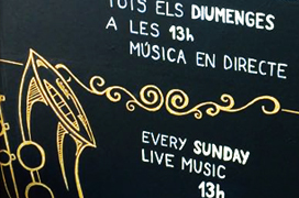 Pizarra bar Octopuss - Live Music