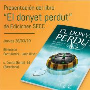"""Presentación del libro """"El donyet perdut"""""""